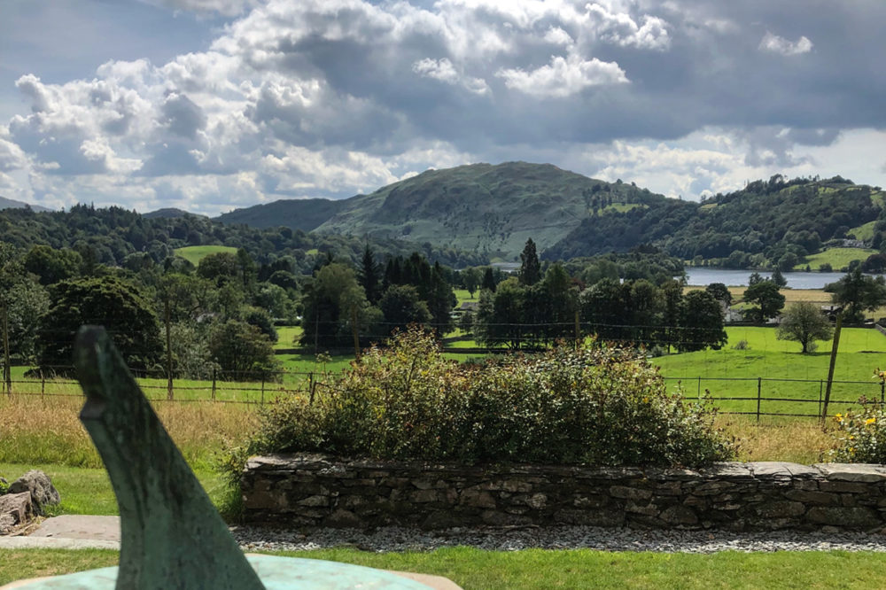 Looking out from the garden at Allan Bank Grasmere
