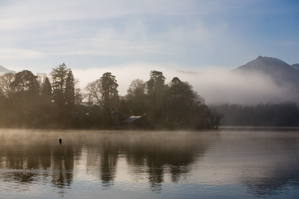 Misty Lake in Winter © Dave Pheasy