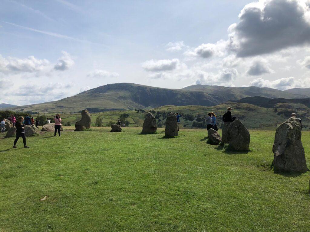 Among the stones at Castlerigg Stone Circle