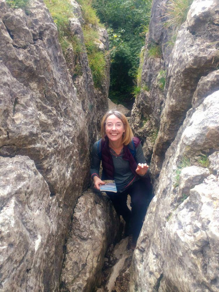 Climbing the Faery Steps at Beetham