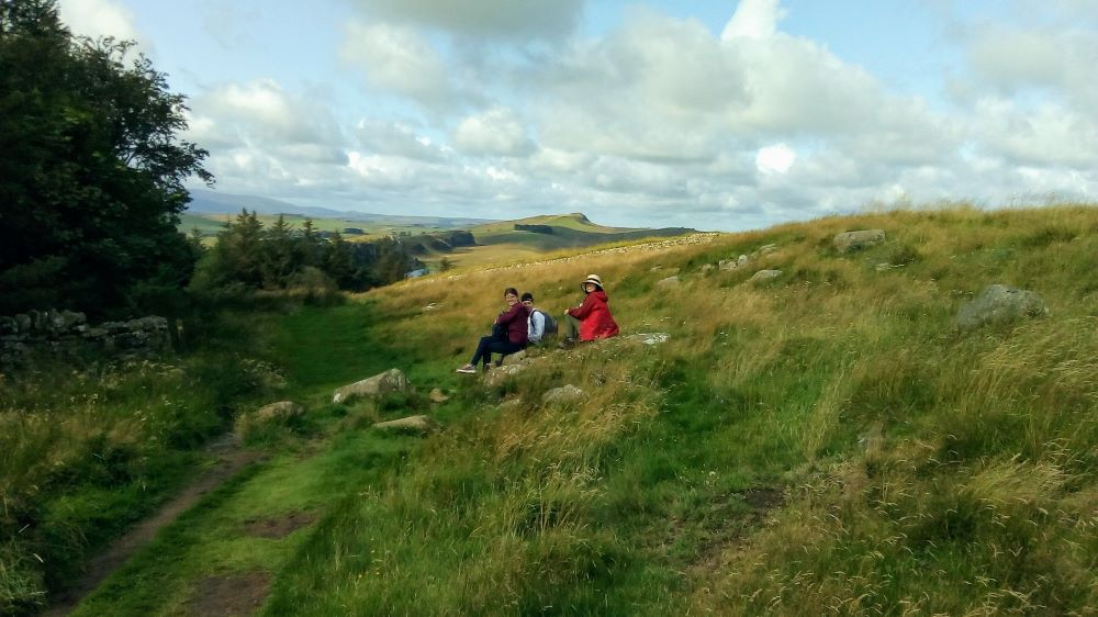 Resting by the wayside at Hadrian's Wall