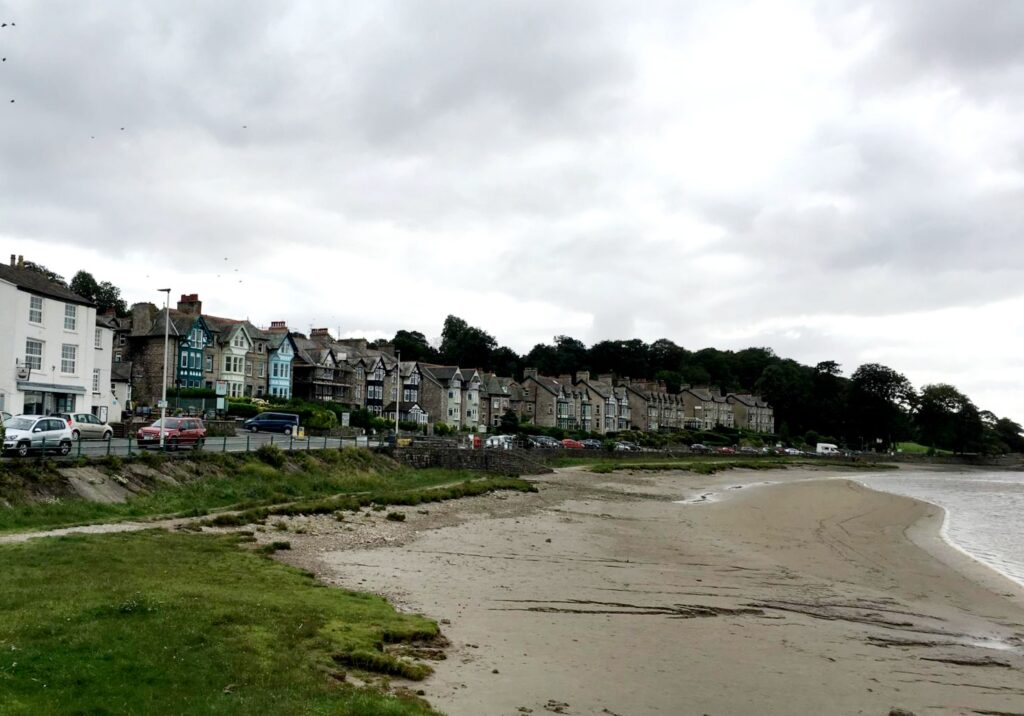 The beach and promenade at Arnside