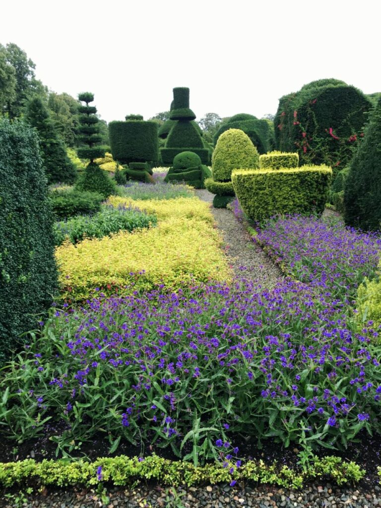 Top hat topiary at Levens Hall
