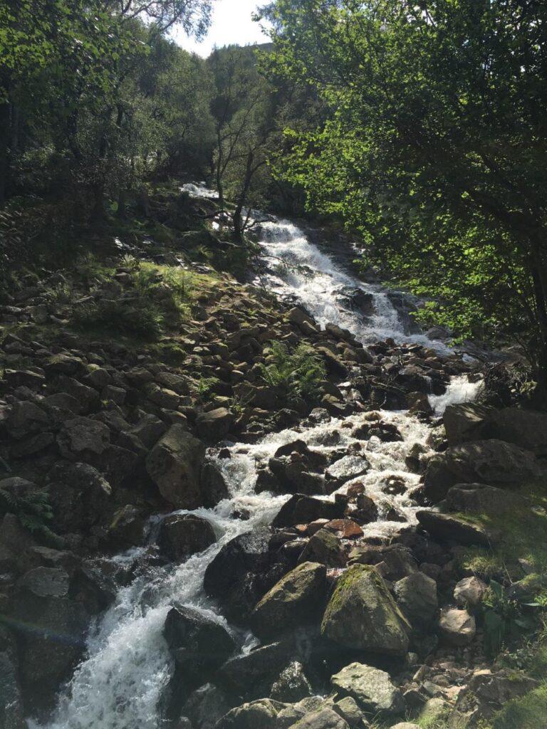 バタミアー湖での滝
