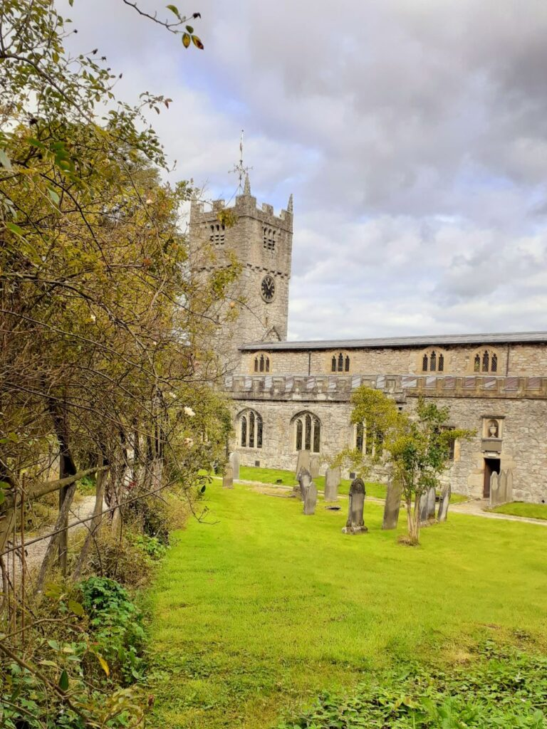 Pretty St Michael's Church at Beetham