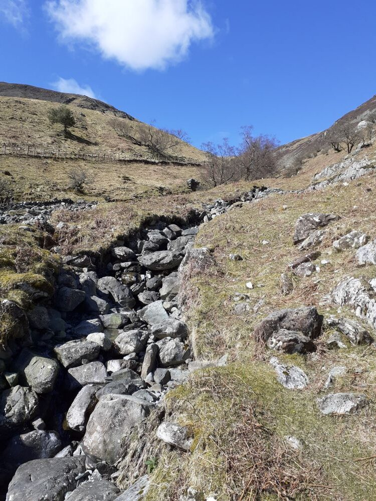 Mining huts high up the fell