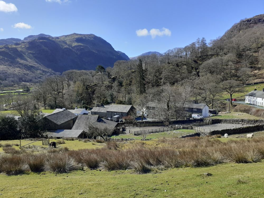 Early spring in the Borrowdale valley