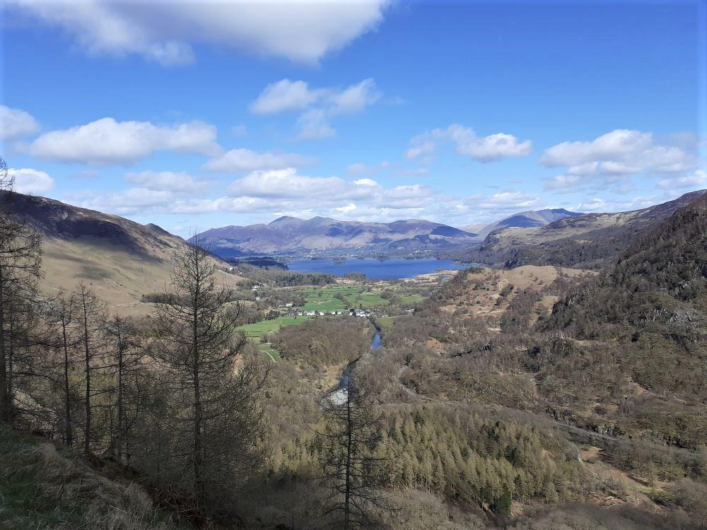 View of Derwentwater from Castle Crag