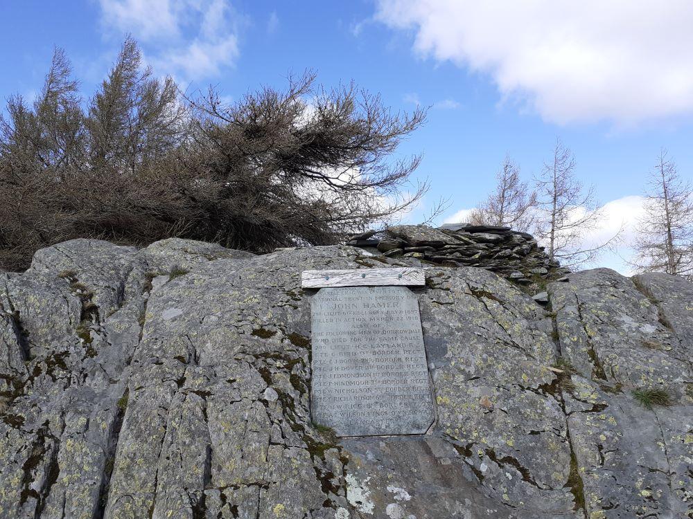 Memorial stone for fallen soldiers
