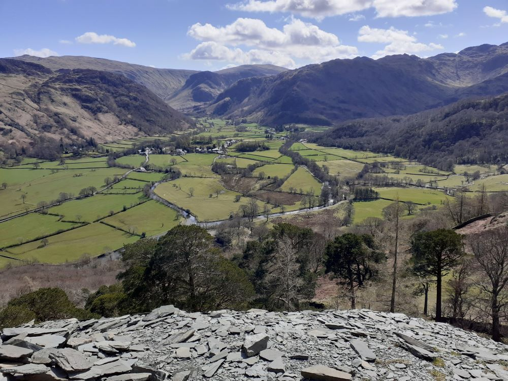 Borrowdale seen from Castle Crag