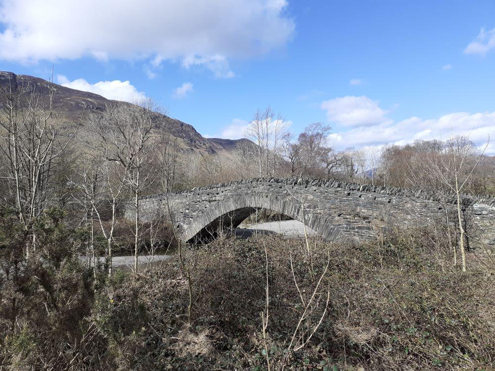 Packhorse bridge in Grange