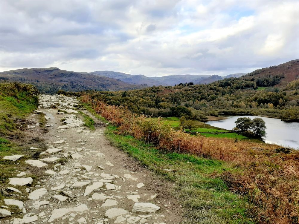 Loughrigg terrace and Rydal Water in autumn